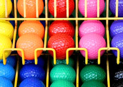 rainbow-of-golf-balls-mini-golf-alberta-campgrounds