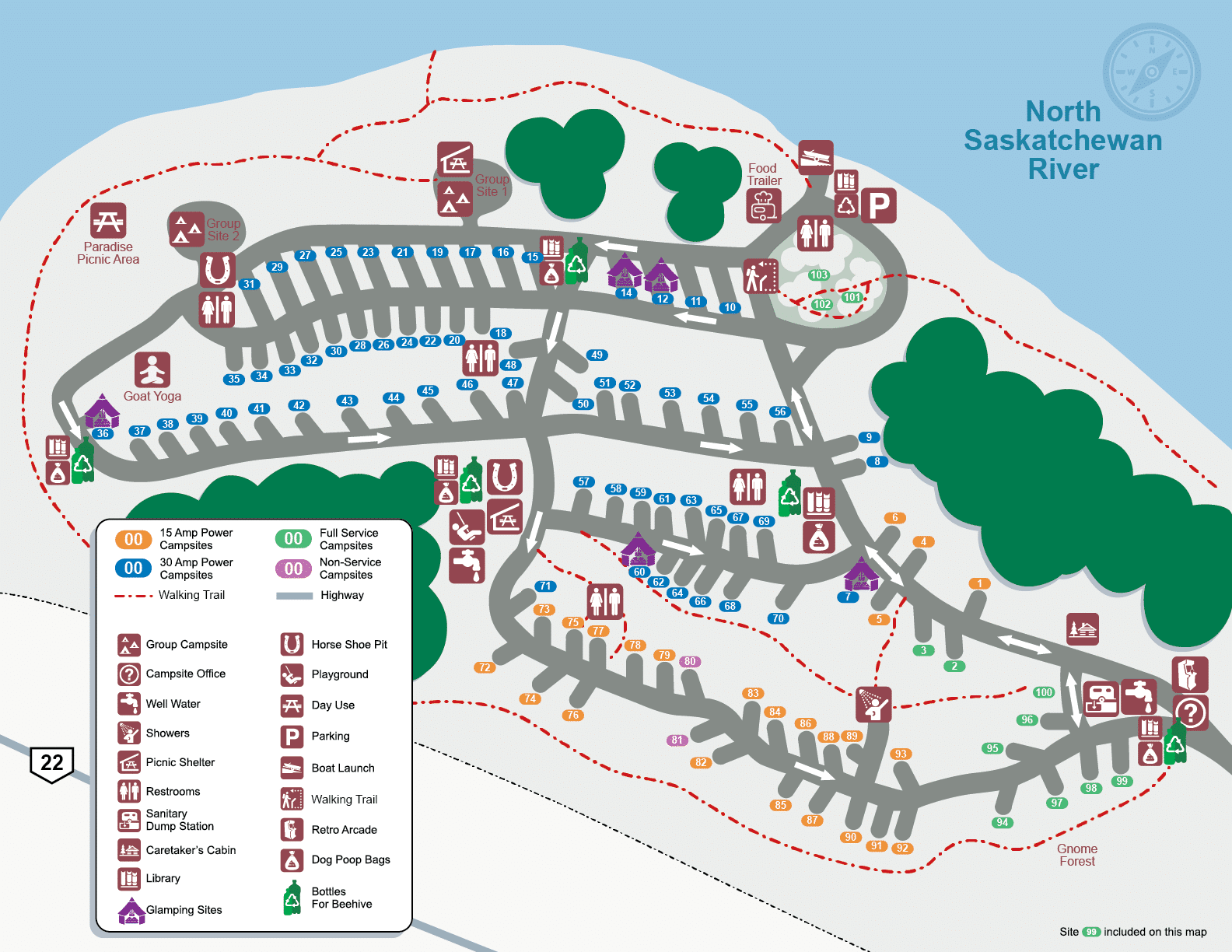 Alberta Camping Elevated Experience Map